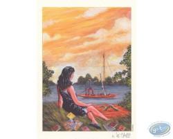 Girl in waterside