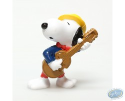 Plastic figure, Schulz, Snoopy : Snoopy guitar player