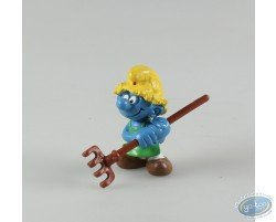 gardener with rake