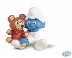 Baby Smurf with his teddy bear
