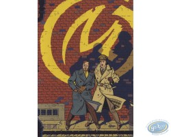 Advertising postcard Blake and Mortimer by Le Soir