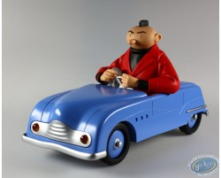 The Young Albert in his car (blue)