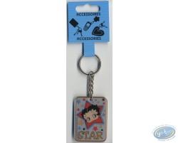 Metal key ring : Betty Boop 'Star'