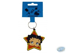 PVC key ring : Betty Boop 'Star'