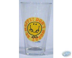 Conical glass, Mr Happy (yellow)