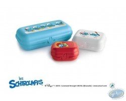 Set of 3 lunch boxes TUPPERWARE Smurf