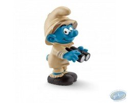 Smurf explorer with binoculars