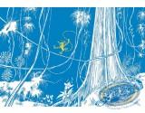 Enamelled plate, Spirou and Fantasio : The Marsupilamis Nest