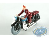 Metal Figurine, Tintin : Tintin in motorcycle, Pixi