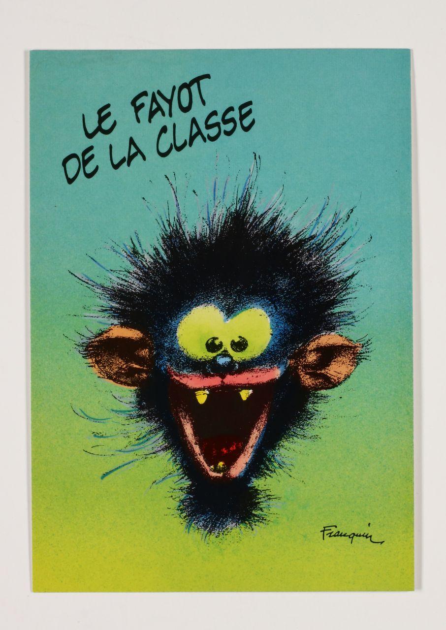 CARTE postale collector Franquin LE FAYOT DE LA CLASSE