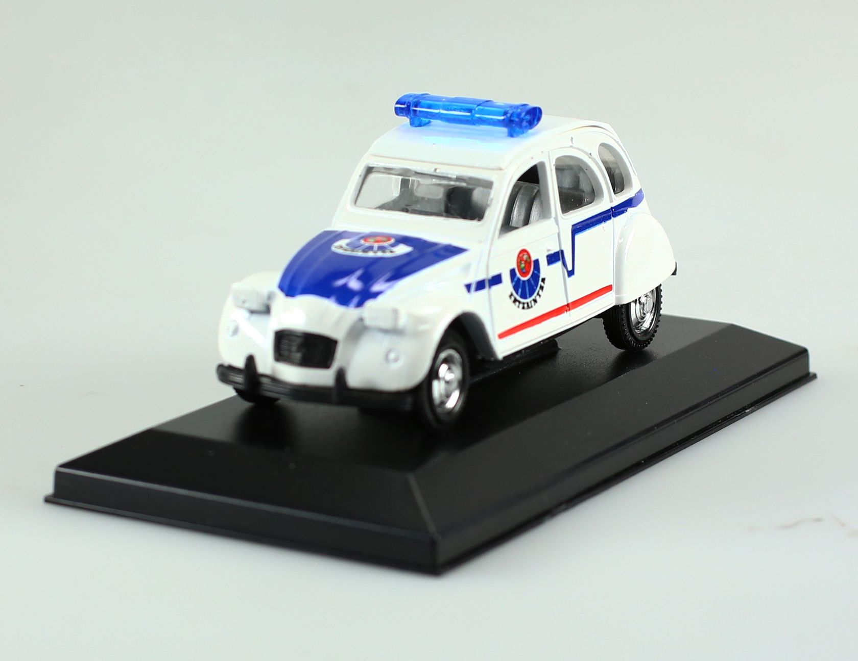 voiture de police miniature citro n 2cv police espagnole. Black Bedroom Furniture Sets. Home Design Ideas