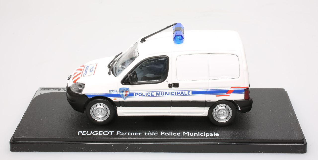 voiture de police miniature peugeot partner police municipale d 39 izon 1 43 ebay. Black Bedroom Furniture Sets. Home Design Ideas
