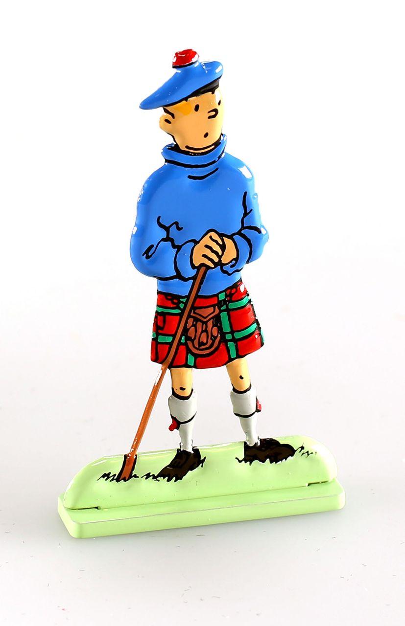 Figurine métal Tintin Tintin dans Coke en stock bas relief Moulinsart