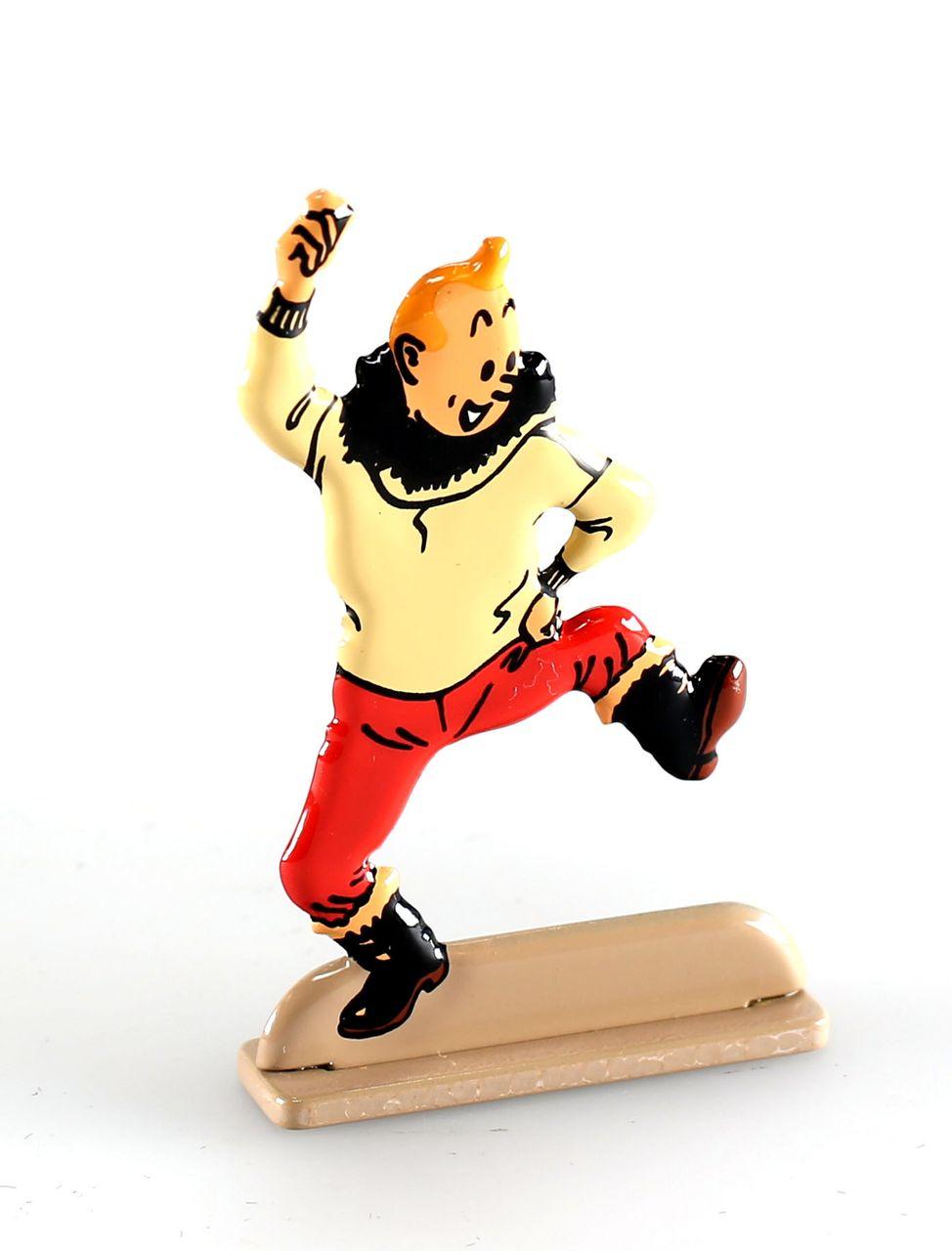 Moulinsart bas relief Figurine métal Tintin Tintin au Congo