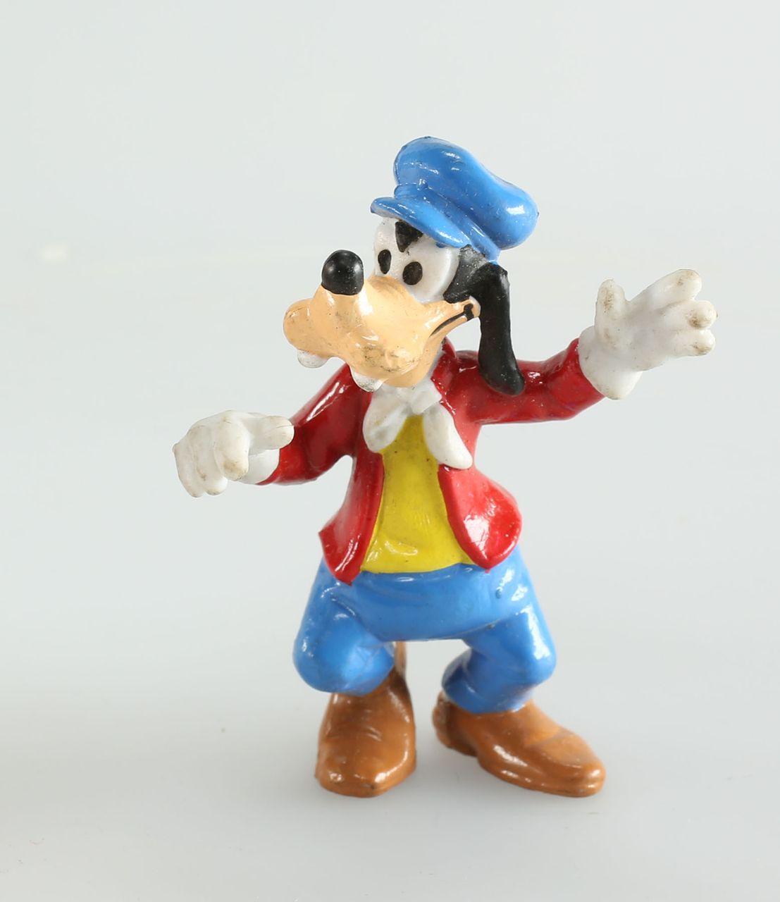 Figurine plastique Mickey Mouse Bébé Dingo avec sa batterie Disney Bully